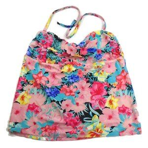 Floral Optional Strapless Halter Swim Top 3X 22W